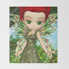 Lil Fairy Princess Throw Blanket