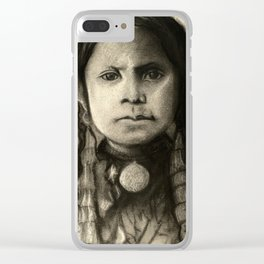 Portrait of Standing Holy Clear iPhone Case