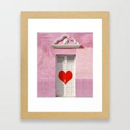 Doorway to love Framed Art Print