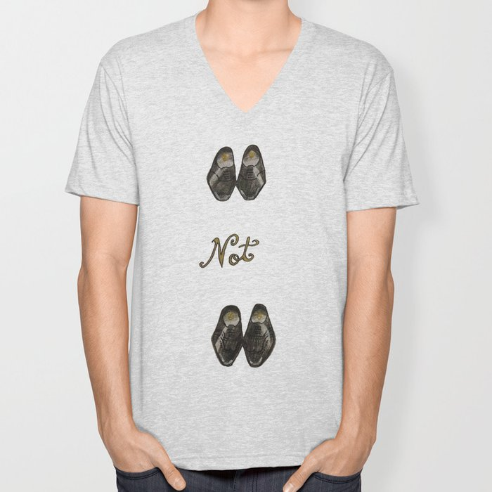 Oxfords not Brogues  Unisex V-Neck