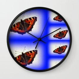 Butterfly Feeling Blue Wall Clock