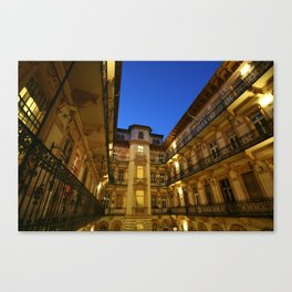 Budapest Courtyard Canvas Print