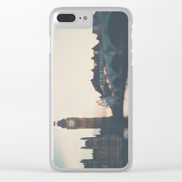 sunset over the city ... Clear iPhone Case