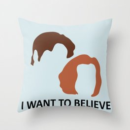 I Want To Believe X-Files Throw Pillow