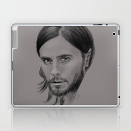 Jared Leto Digital Portrait grey LLFD Laptop & iPad Skin