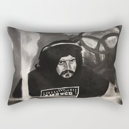 bonzo,pat's delight,john boham,painting,wall art,artwork,band,led zeppelin,shirt,art,fan,symbol Rectangular Pillow