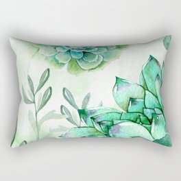Irish Mint Garden Rectangular Pillow