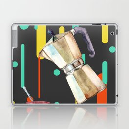 Coffee Pop Art Collage Good Morning Laptop & iPad Skin