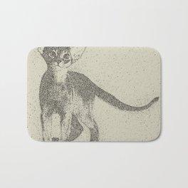 Abyssinian kitten dotted art Bath Mat
