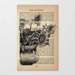 Pride & Prejudice, Chapter XLIII: Sunflowers Canvas Print