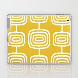 Mid Century Modern Atomic Rings Pattern 771 Mustard Yellow Laptop & iPad Skin
