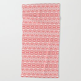 Dividers 07 in Red over White Beach Towel
