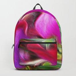 Vibrant little flowers, photographic art Backpack