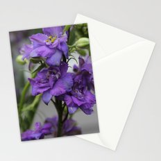 Purple Larkspur Stationery Cards