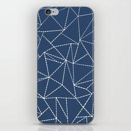 Ab Dotted Lines Navy iPhone Skin