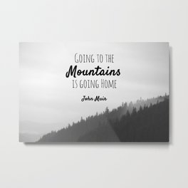 Going to the Mountains is going Home Metal Print