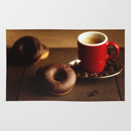 Fresh Donuts for coffee Rug