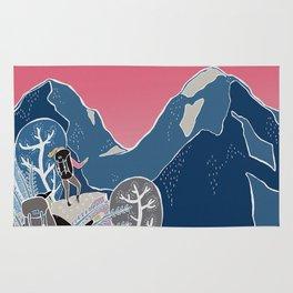 Slovenian mountains Rug