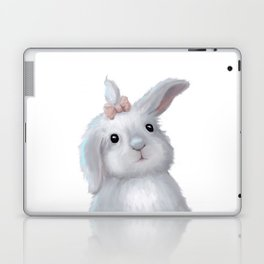 White Rabbit Girl isolated Laptop & iPad Skin