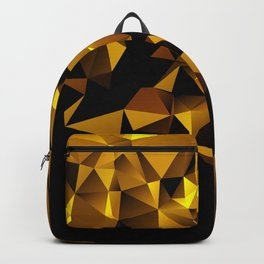 Gold Triangle pattern Backpack