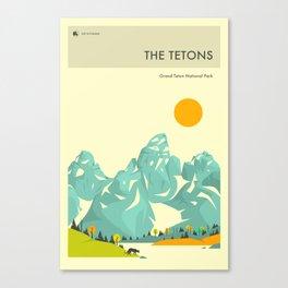 GRAND TETON NATIONAL PARK POSTER Canvas Print