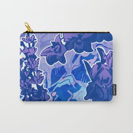 Lavender, Orchid, and Iris Carry-All Pouch