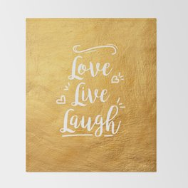 Love Live Laugh Throw Blanket