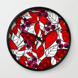 Retro . Bright colorful pattern . Wall Clock