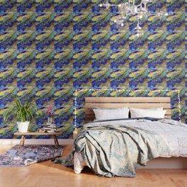 Blue Green Oasis digitally enhanced Wallpaper