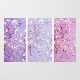 Vincent Van Gogh : Almond Blossoms Lavender Panel Art Rug