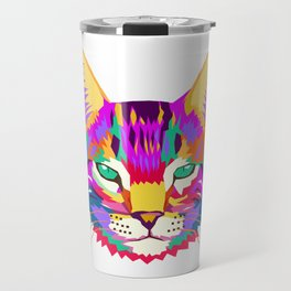 art cat Travel Mug