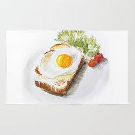 egg toast Rug