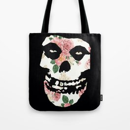 White with White and Pink Rose Misfit Tote Bag