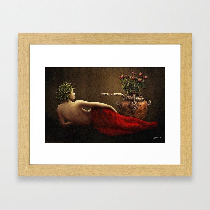 Dark Classical Medusa Framed Art Print