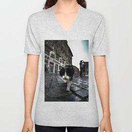 Street Cat Unisex V-Neck