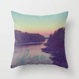 Tofino evening Throw Pillow
