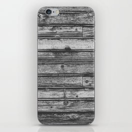 Weathered Wood Wall iPhone Skin
