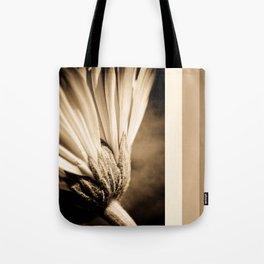 Sepia Gerbera Tote Bag