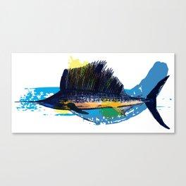 "Sailfish ""Sails Up"" Canvas Print"