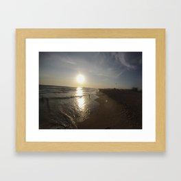 Huntington Sunset Framed Art Print