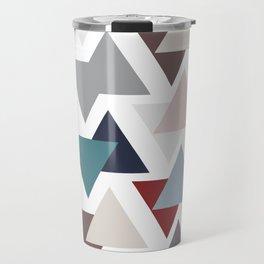 Scatter triangles Travel Mug