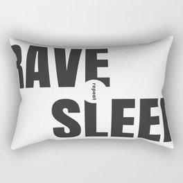 Rave Sleep Repeat Rectangular Pillow