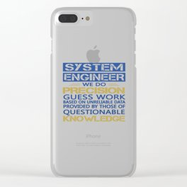 SYSTEM ENGINEER Clear iPhone Case