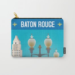 Baton Rouge, Louisiana - Skyline Illustration by Loose Petals Carry-All Pouch