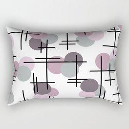 Atomic Age Molecules 5 Mauve Lavender Rectangular Pillow
