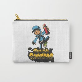 Lab No. 4 - Subway Surfers Game will take your craziness Inspirational Quotes Poster Carry-All Pouch
