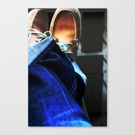 Boat Shoes Canvas Print