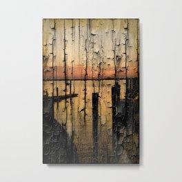 ocean sun set view Metal Print
