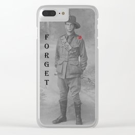 Lest we Forget Clear iPhone Case