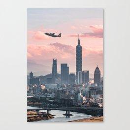 Taipei Takeoff Canvas Print